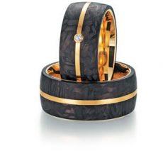 Alianza Fischer Ring Gold Karbon 23-01020