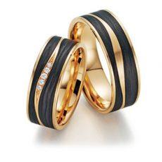 Alianza Fischer Trauring Gold Carbón 23-01090-070